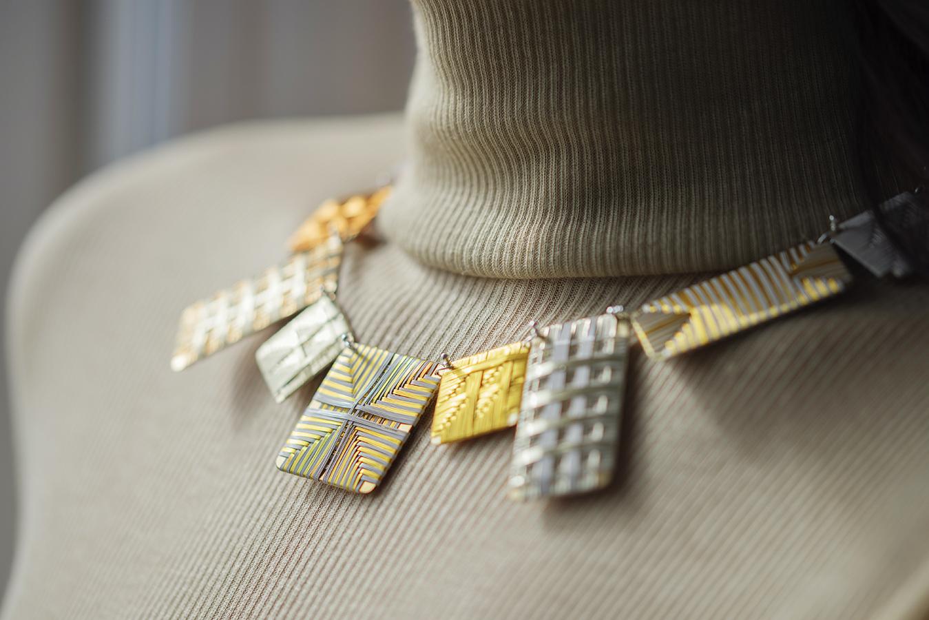 golden weave necklace