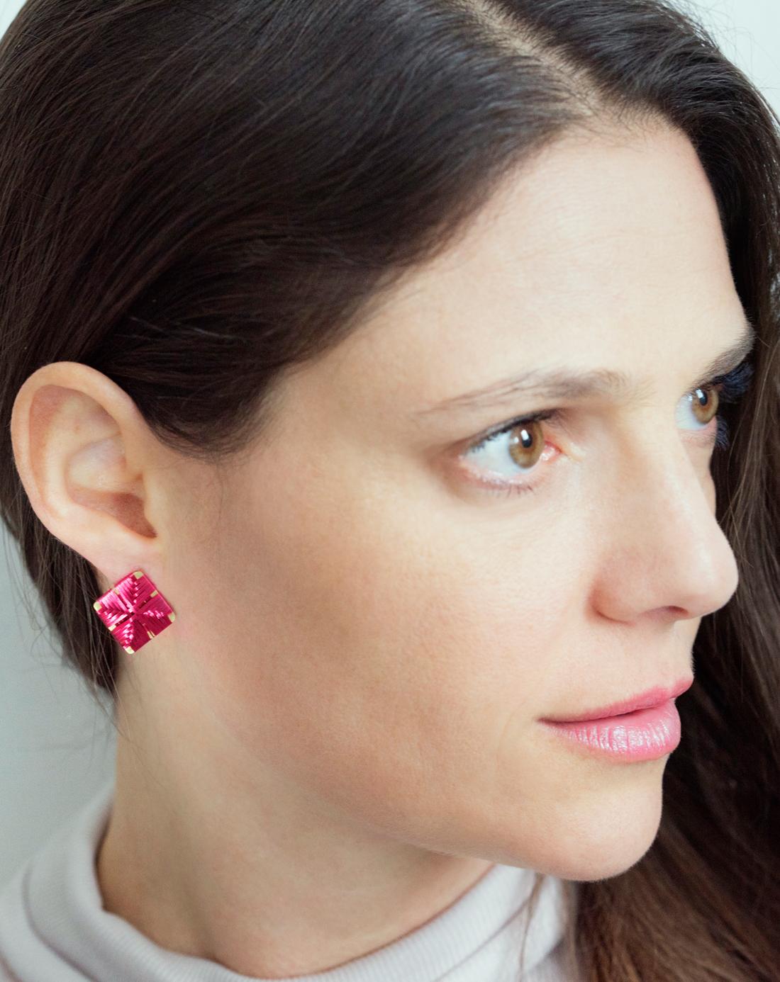 weave earrings portfolio weaving