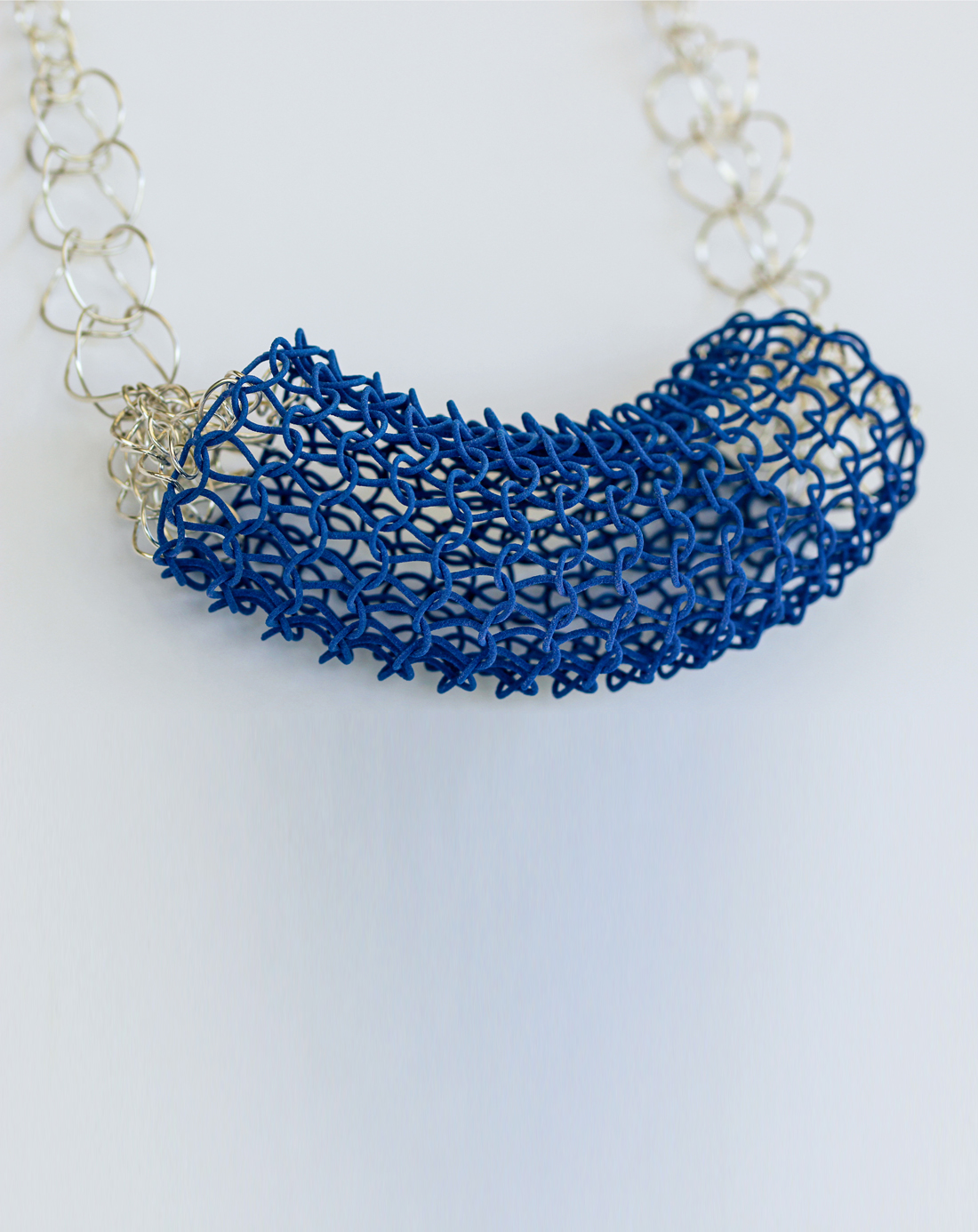 3d knitting necklace
